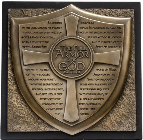 armoir of god armor of god plaque answers in genesis