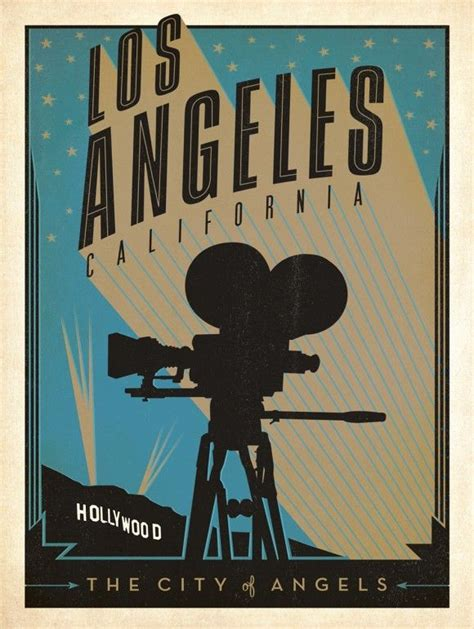 poster design los angeles los angeles american travel posters grad cx pinterest