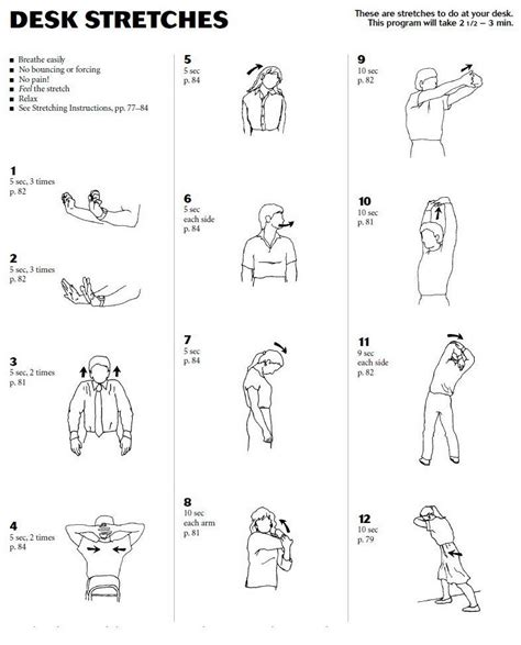 desk exercises for abs desk stretches health and fitness pinterest
