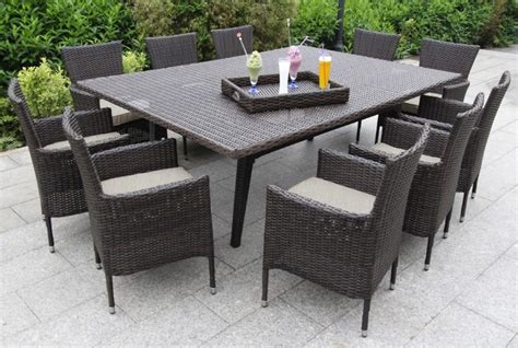 contemporary patio dining set sorano wicker 12 piece dining set contemporary outdoor