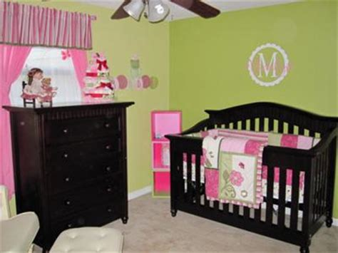 pink and green baby room pink and lime green nursery