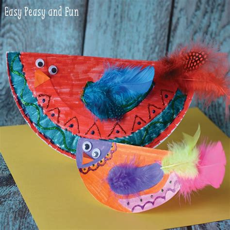 Paper Bird Craft - paper plate bird craft paper plate crafts easy peasy