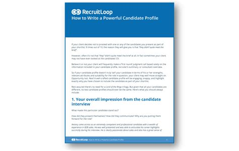 how to write a powerful candidate profile do better