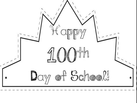 100 day crown template 117 best images about 50th and 100th day on