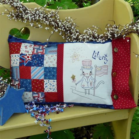 Everyday Celebrations Simple Patchwork Pillows Free Pattern - liberty patchwork pillow cat embroidery pattern 329