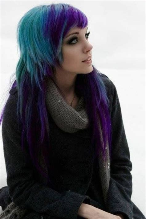black n purple hair blue purple and black hair hairstyles colors