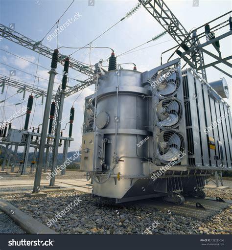 high voltage power highvoltage power transformer stock photo 128225006