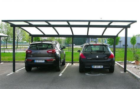 carports de carport abri 2 voitures cintr 233 en aluminium par jlc