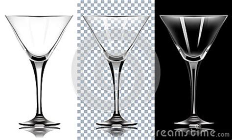 martini transparent background transparent glass for martini on white and black backg