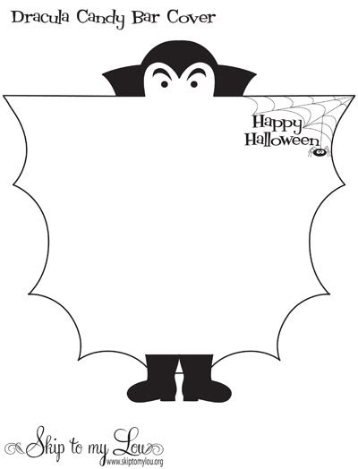 Bat Bar Wrapper Template treats