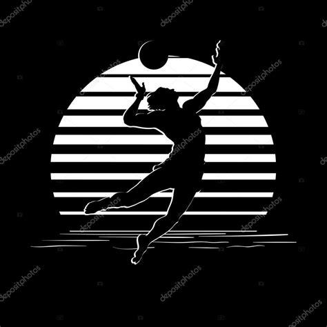 logo black and white stripes 배구 선수 실루엣 흑백 줄무늬 로고 스톡 벡터 169 aen seidhe 111813518