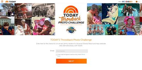 Today Show Orlando Sweepstakes - today s throwback photo challenge universal orlando 25th anniversary promotion