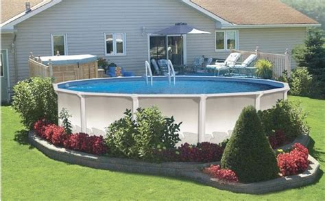Backyard Above Ground Pools Above Ground Pool Landscaping Pictures Of Landscaping Around Above Ground Pool To Be