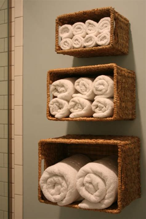 wall baskets for bath linen storage organize my