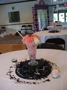 50th anniversary sock hop centerpieces decorating ideas