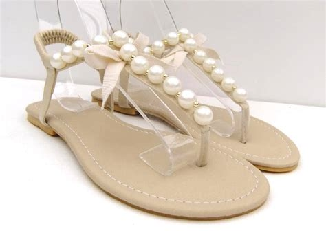 Wedding Sandals by Pearl Wedding Flats Www Pixshark Images Galleries