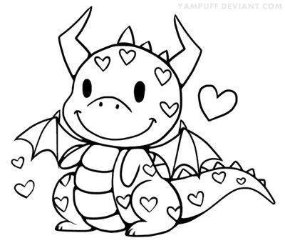dragon heart coloring page cute dragon coloring pages pinterest coloring print