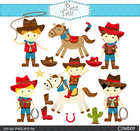 compleanno clipart cowboy birthday clipart