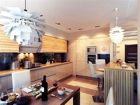 modern chic kitchen lighting ideas jpg