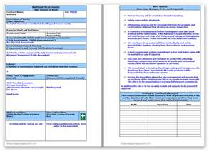 risk statement template demolition method statement and risk assessment