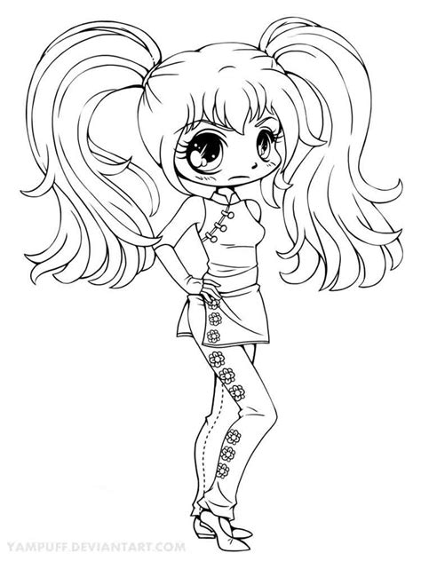 coloring pages of chibi chibi coloring pages free printable chibi coloring pages