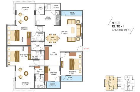 3bhk plan millennium floor plans 2bhk 3bhk flats floors plans