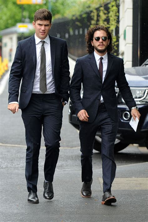 liverpool actor game of thrones kit harington gets suited and booted as he joins