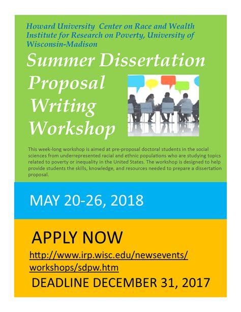 Calendar Howard Summer Dissertation Writing Workshop Howard