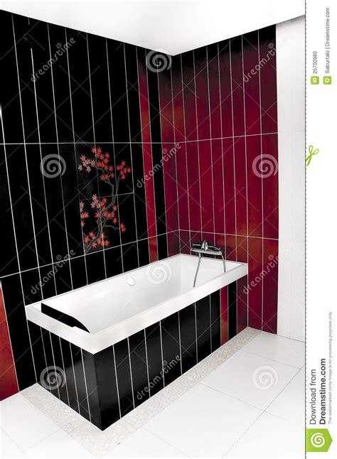 schwarzes badezimmer rotes und schwarzes badezimmer stockfoto bild 25700980