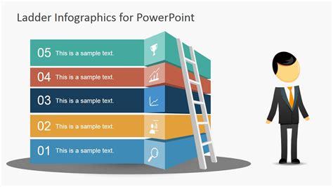 free ladder infographic slide for powerpoint slidemodel