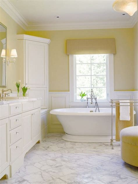 22 Bathrooms With Yellow Accents Messagenote Yellow Painted Bathrooms