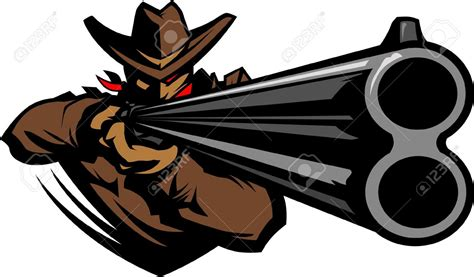 shooting clipart shotgun clipart cowboy gun pencil and in color shotgun