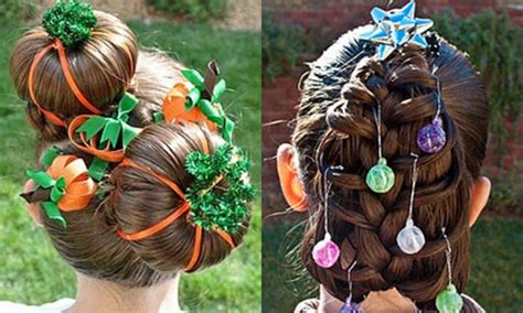 cute christmas hairstyles trends ideas  girls