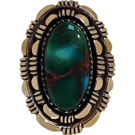 smith navajo sterling silver turquoise ring from