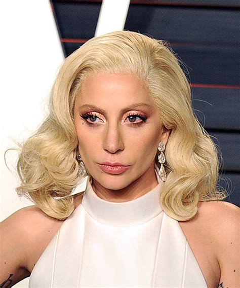 Gaga Hairstyles by Gaga Medium Wavy Formal Bob Hairstyle Light