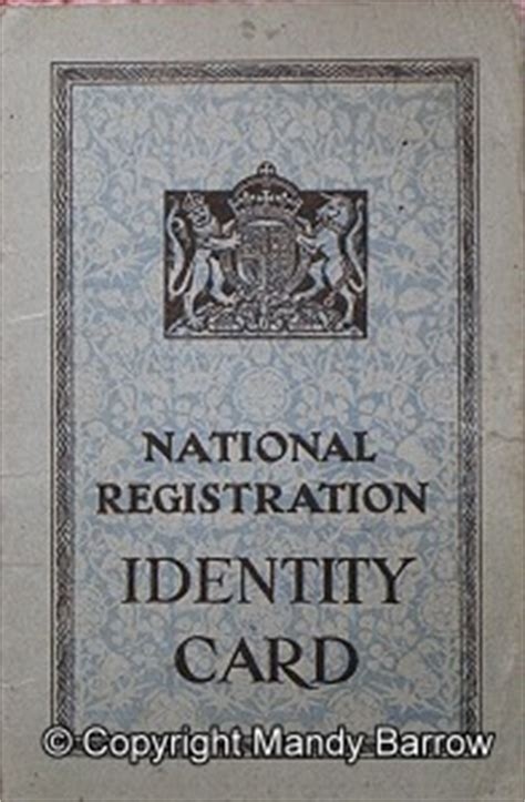 national registration identity card template identity cards id cards war