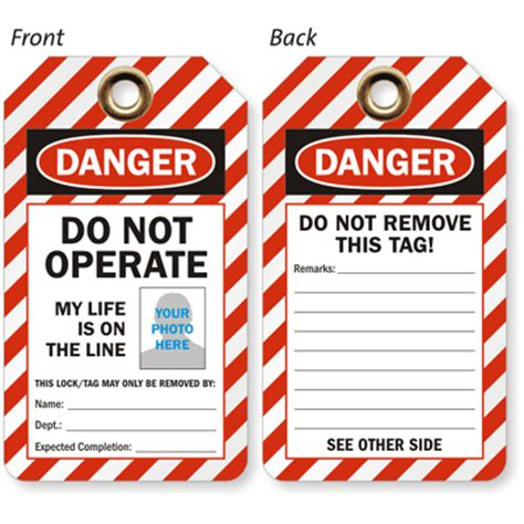 Lock Out Tags Template Custom Lockout Tags