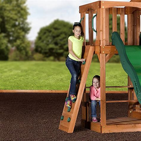 backyard discovery cedar view swing set backyard discovery pacific view all cedar wood playset