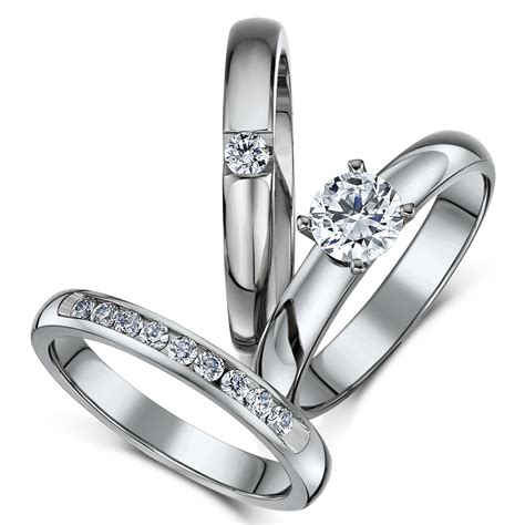 view gallery of wedding rings sets uk