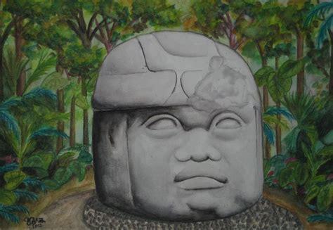 imagenes de olmecas para colorear cabeza olmeca uriel agust 237 n ruiz l 243 pez artelista com