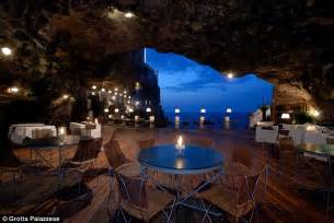 Cave Restaurant Side Of A Cliff Italy by Grotta Palazzese Stunning Restaurant Built Inside A Cave