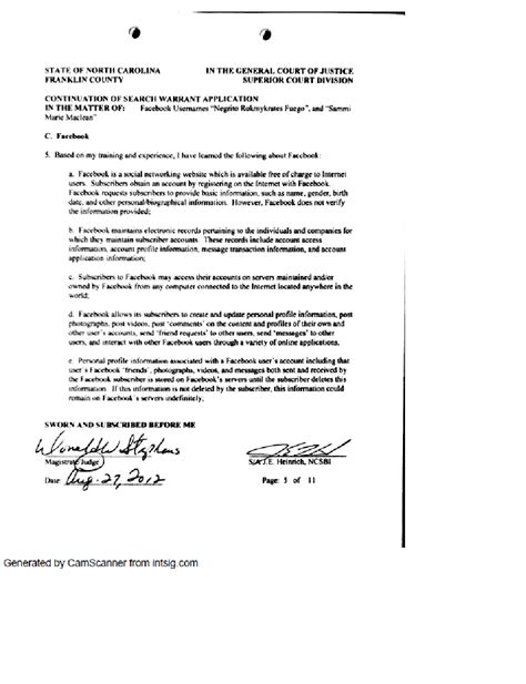How To Write A Search Warrant Affidavit Tpc Responds To The Franklin Times News Article Poor Journalism Misleading The