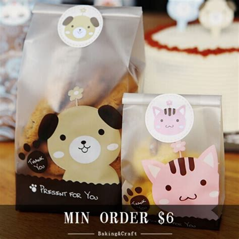 Vin179 Packing Permen Cookies Min 30pcs min order 6 free shipping bakery food packaging bags for cookie biscuit gift