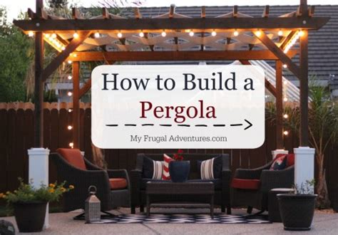 how to build a freestanding pergola midsummer patio ideas
