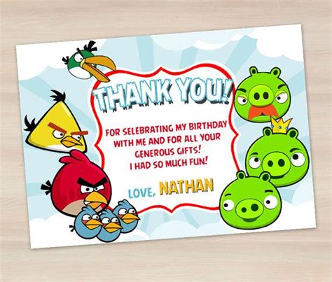 printable thank you card angry birds 49 best images about birthdays on pinterest magic party