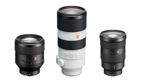 Sony Lens G unveiled high resolution sony g master frame e mount