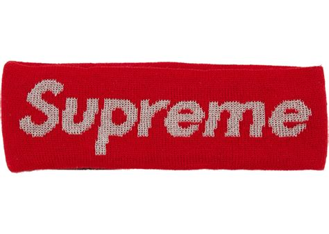supreme new era supreme new era reflective logo headband fw 17