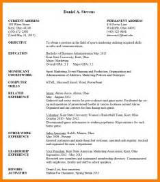 Download Undergraduate Resume Template
