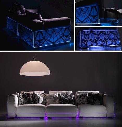 light up sofa led sectionals living room sofas built in mood lighting