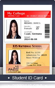 student id card template png screenshots of student id cards maker barcodefor us